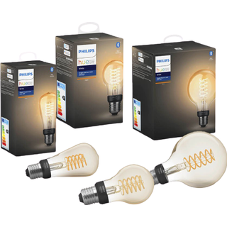Philips Hue Filament G93/ST64/A60 LED Lamp 7W E27 3-pack