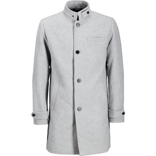 Jack & Jones Recycled Wool Blend Coat - Grey/Light Grey Melange