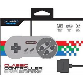 Retro-Bit NES Classic 16-Bit Controller - Grey/Black