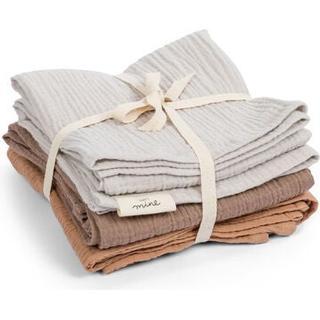 That's Mine Muslin Cloths Feather Grey/Brown/Golden Mist 3-pack