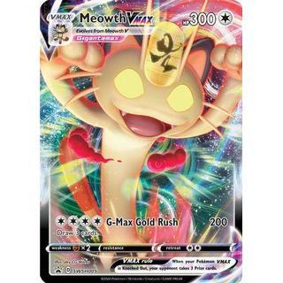 Pokémon Jumbo Meowth Vmax G-Max Gold Rush