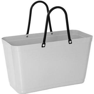 Hinza Shopping Bag Large (Green Plastic) - Light Grey