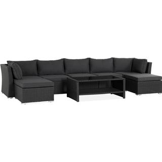 Hillerstorp Wisconsin 7 Seater Loungegrupp, 1 Bord inkl. 5 Soffor