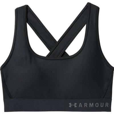 Under Armour Mid Crossback Sports Bra - Black