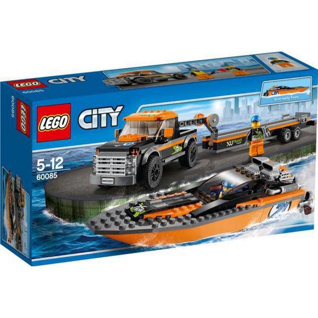 Lego Fyrhjulsdriven bil med motorbåt 60085