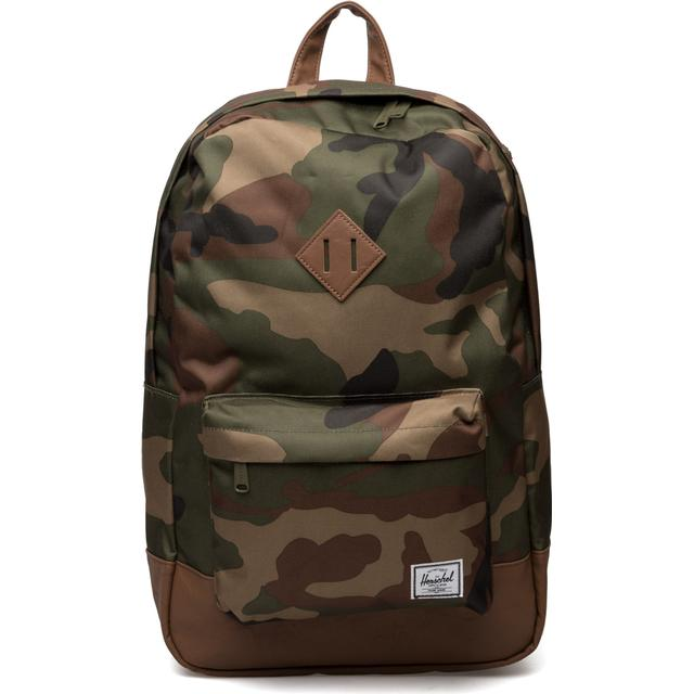 Herschel Heritage - Woodland Camo/Tan Synthetic Leather