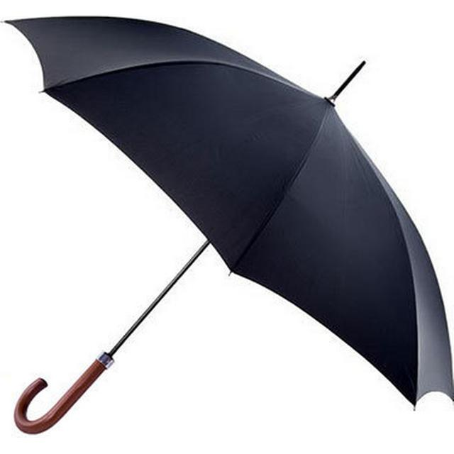 Totes Automatic Acacia Wood Umbrella Black (9305B)