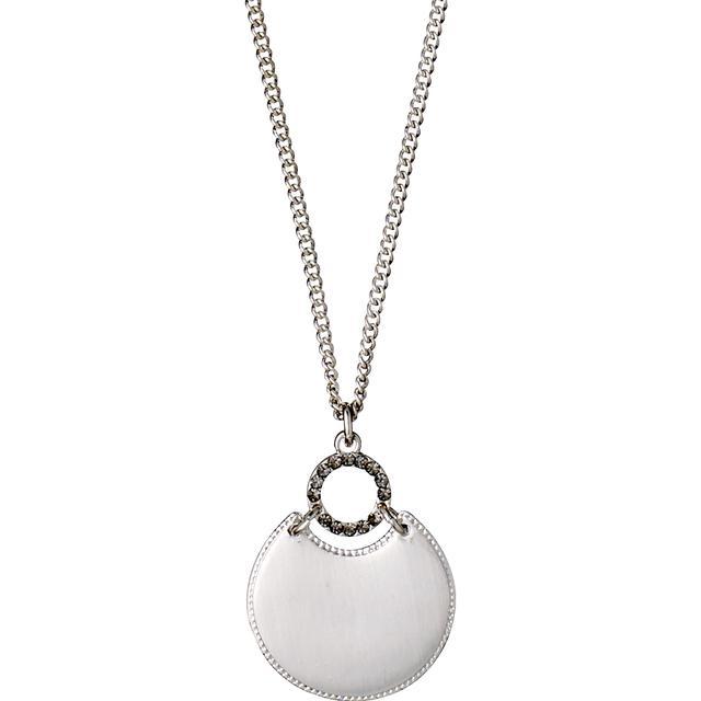Pilgrim Rapsody Halsband 40cm - Silver/Grå