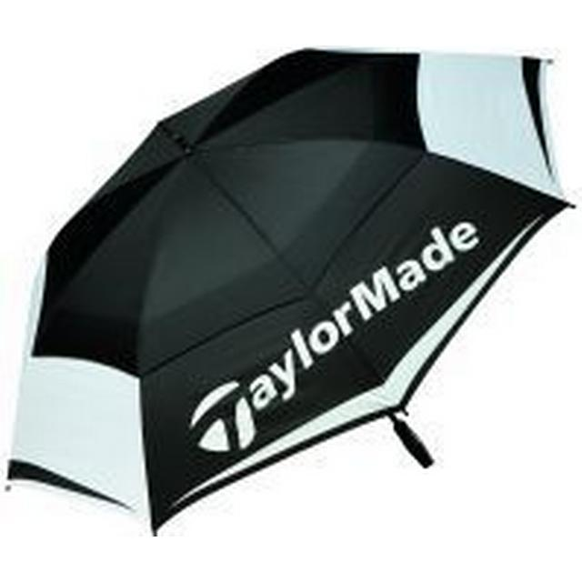 "TaylorMade 64"" Double Canopy Umbrella Black/White/Charcoal (B1600601)"