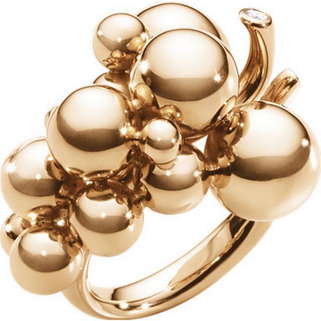 Georg Jensen Moonlight Grapes Rose Gold w. Brilliant Cut Diamond Ring - (3572480)
