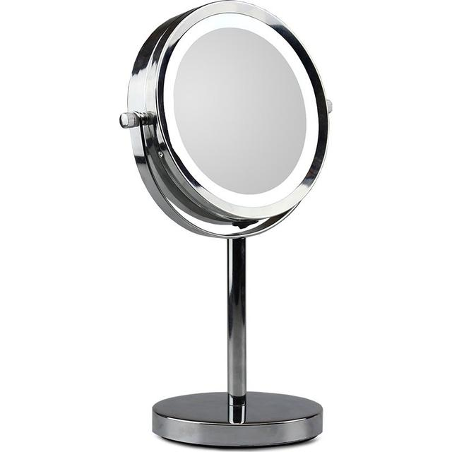 Gillian Jones Silver Stand Mirror With Led X5 Se Priser