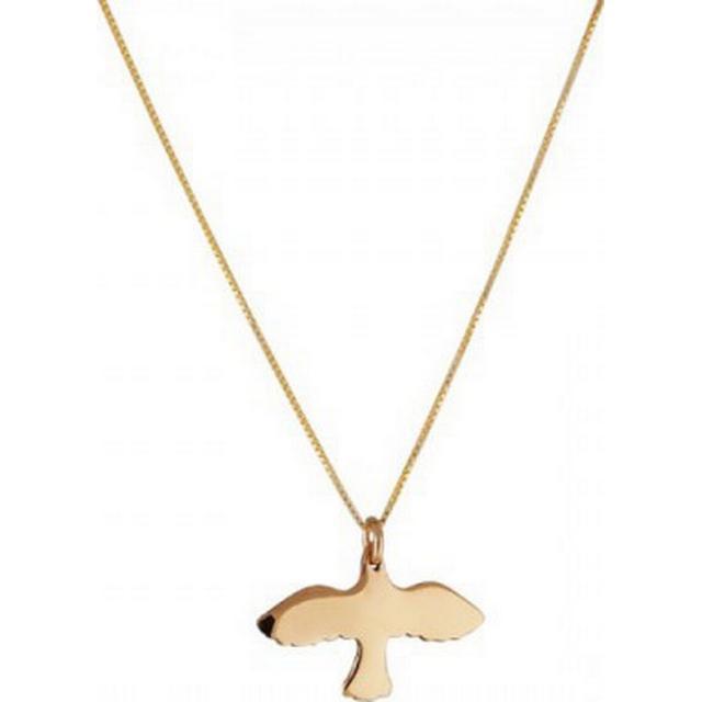 Emma Israelsson Golden Small Dove Bronze Necklace 40cm