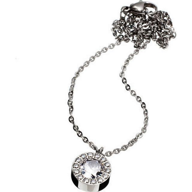 Edblad Thassos Stainless Steel Necklace w. Transparent Cubic Zirconium - 42cm (83271)