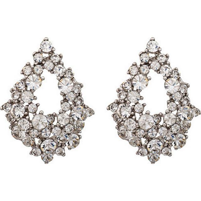 Lily and Rose Alice Tin Earrings w. Transparent Cubic Zirconium - 3.2cm (60571)