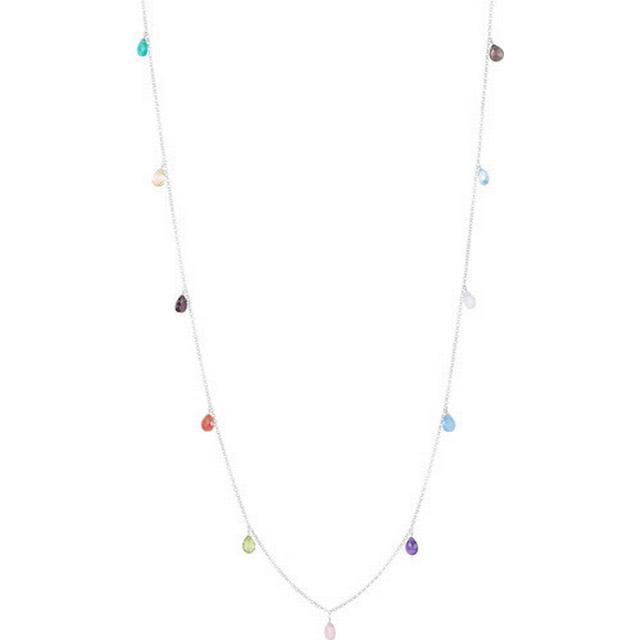 Sophie By Sophie Briolette Silver Rhodium Plated Necklace Quartz/Topaz (420)