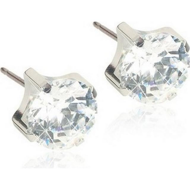 Blomdahl Skin-Friendly Medical Titanium Earrings w. Cubic Zirconia - 0.5cm (15‑1404‑30)