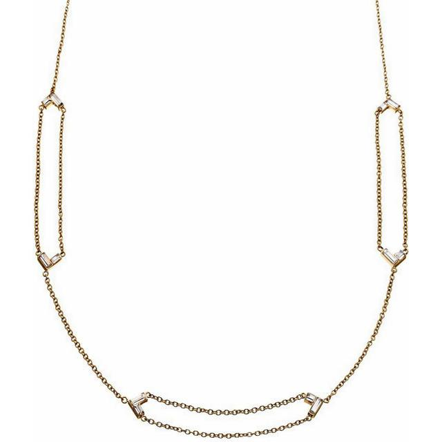 Edblad Vendela Stainless Steel Gold Plated Necklace w. Cubic Zirconia (101841)