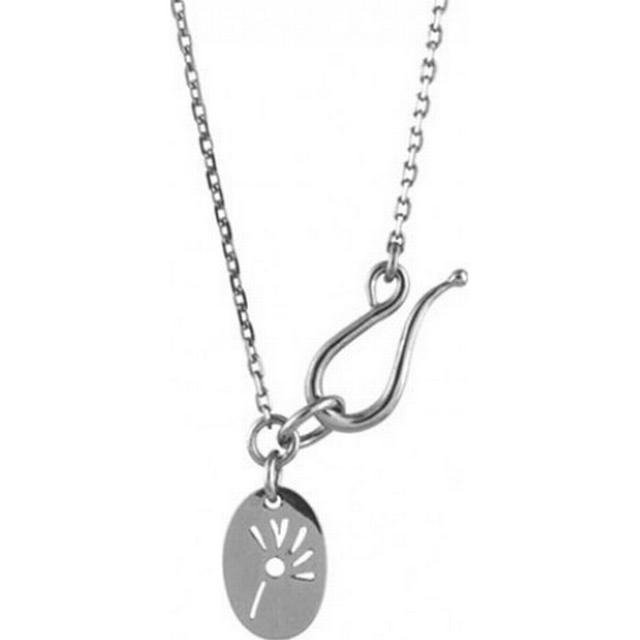 Izabel Camille Rolo White Silver Necklace (A6110sws)