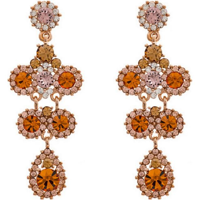 Lily and Rose Miss Kate Tin Earrings w. Swarovski Crystals/Topaz - 6.2cm