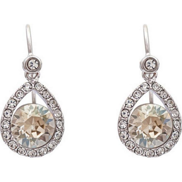 Lily and Rose Emmylou Brass Earrings w. Swarovski Crystal - 2.4cm