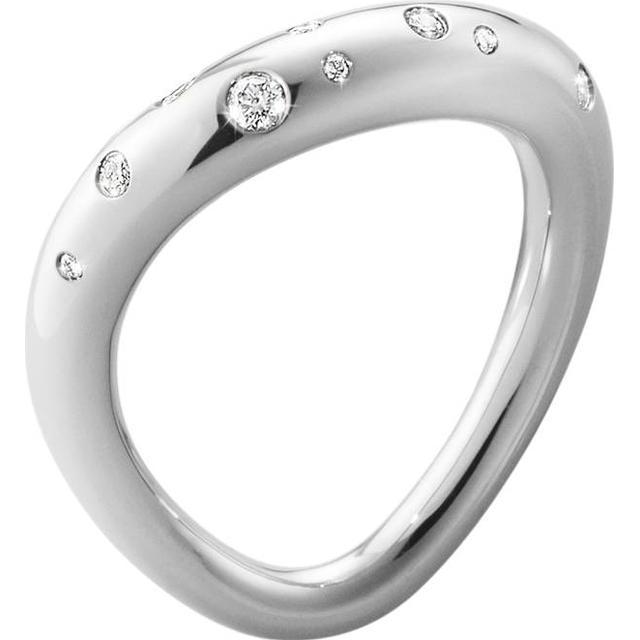 Georg Jensen Offspring Silver Ring w. Diamond (10013251)