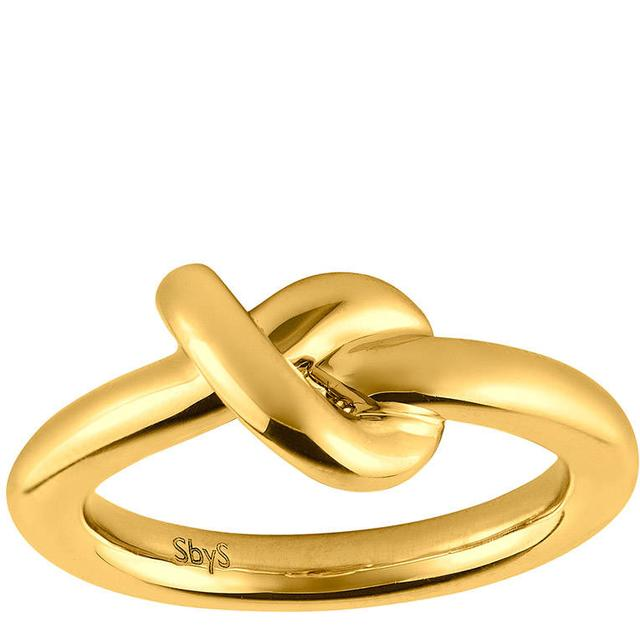 Sophie By Sophie Knot Silver Gold Plated Ring (2846)