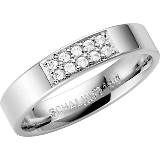 Schalins Stjärnfall Altair White Gold Ring w. Diamond