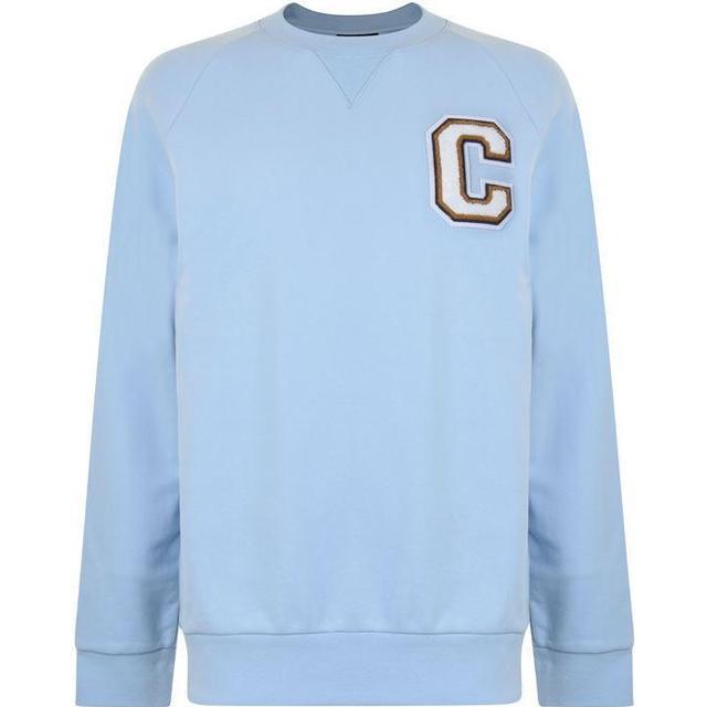 Calvin Klein Logo Badge Sweatshirt Cerulean