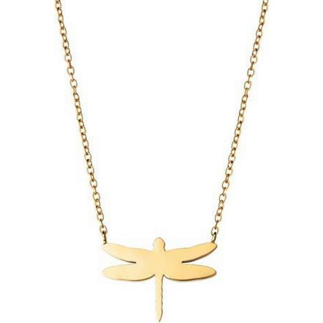 Edblad Dragonfly Stainless Steel Gold Plated Necklace (104094)