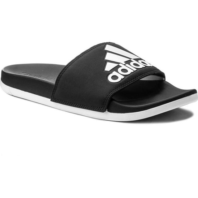 Adidas Adilette Cloudfoam Plus Logo BlackWhite