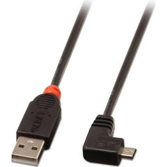 Lindy Right Angle USB A-USB Micro-B 2.0 2m