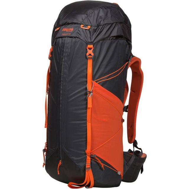 Bergans Helium 55L - Solid Charcoal/Koi Orange