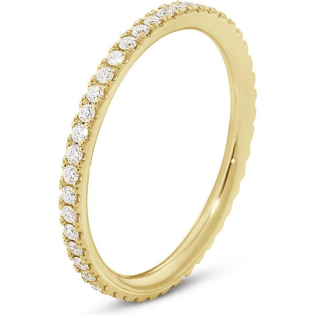 Georg Jensen Aurora Yellow Gold Ring w. Diamonds (3572720)