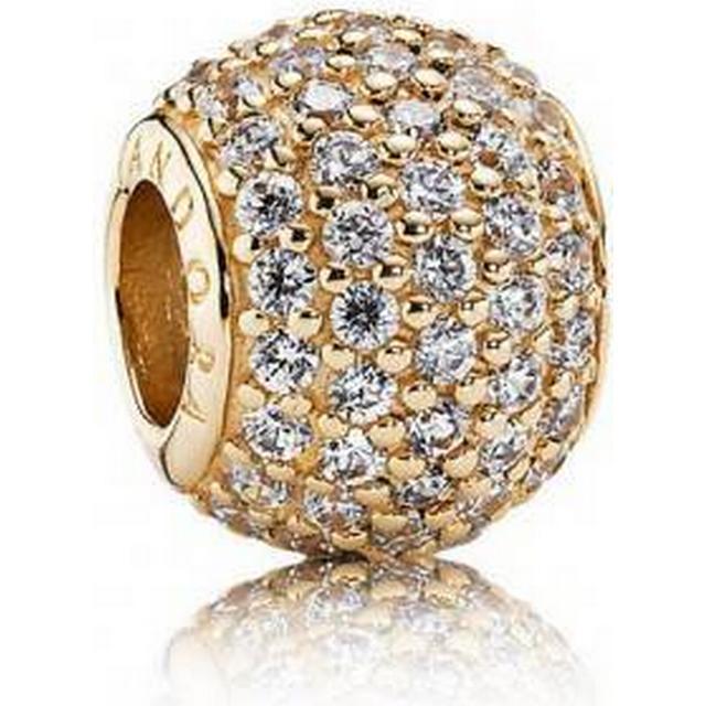 Pandora Gold Pave Ball Charm w. Cubic Zirconia (750819CZ)