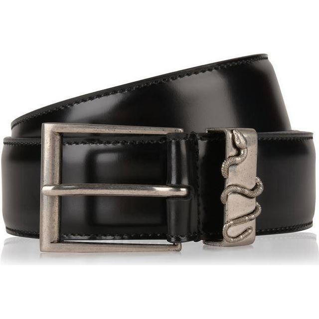 Gucci Snake Leather Belt Black Leather