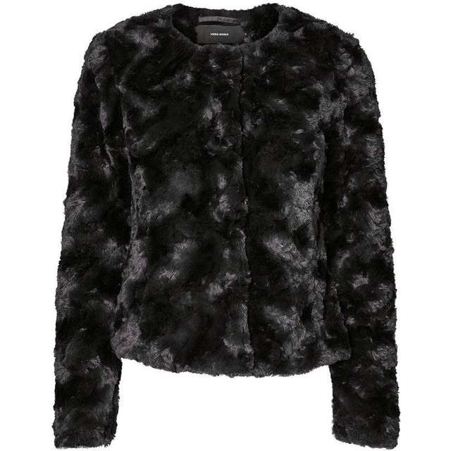 officiell webbplats reducerat pris snygg Vero Moda Short Fake Fur Jacket Black/Black - Hitta bästa pris ...