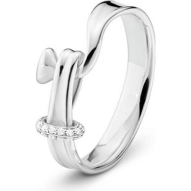 Georg Jensen Torun Silver Ring w. Diamonds (3560680)