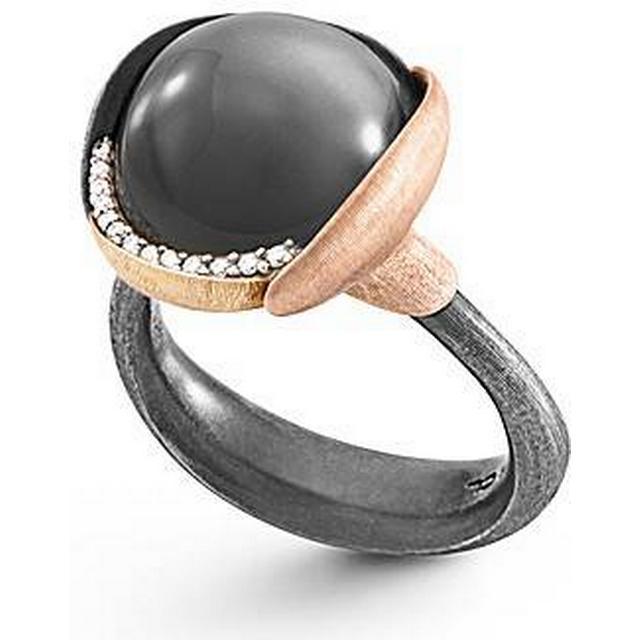 Ole Lynggaard Lotus Silver Ring w. Grey Moon Stone (A2652-321)