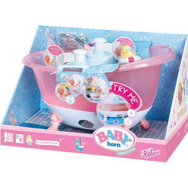 Zapf Baby Born Interactive Bathtub With Foam Se Priser