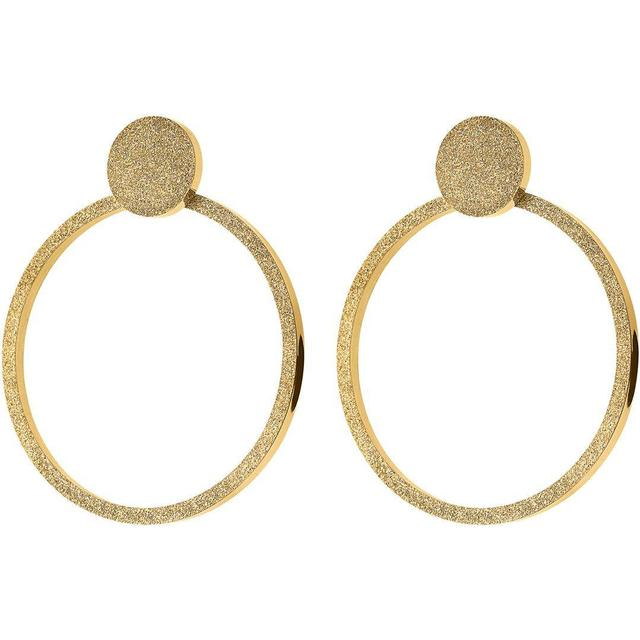 Edblad Valerie Large Sparkle Stainless Steel Gold Plated Earrings (109304)