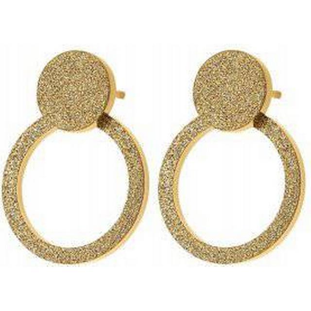 Edblad Valerie Sparkle Stainless Steel Gold Plated Earrings (109302)