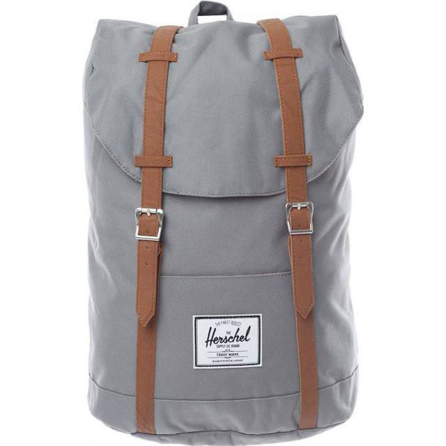 Herschel Retreat - Grey/Tan Synthetic Leather