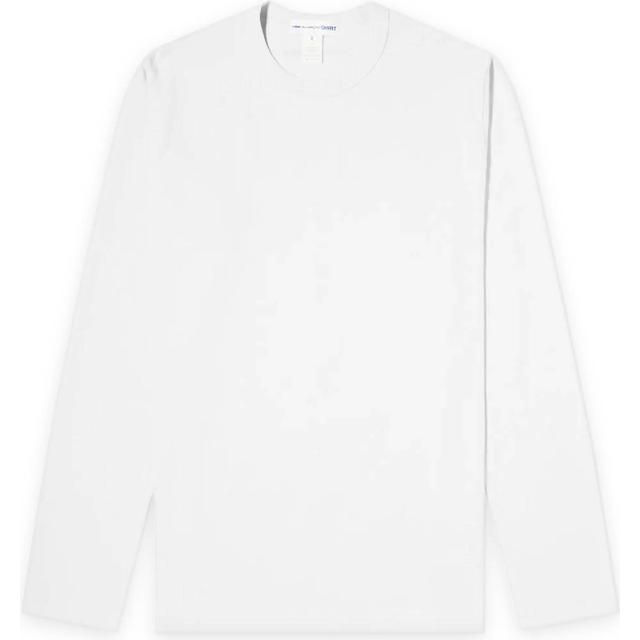 Comme des Garçons Printed Cotton Long Sleeve T-shirt - White