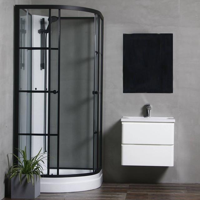 Bathlife Consider Shower Cabin BTA 090 C2E MBGT TS Duschkabin 900x900mm
