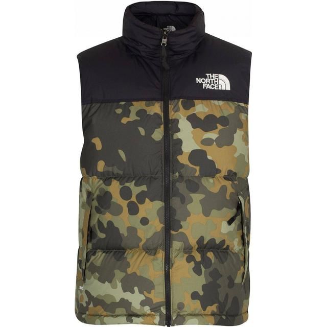 The North Face 1996 Retro Nuptse Down Vest - New Taupe Green Macrofleck Print