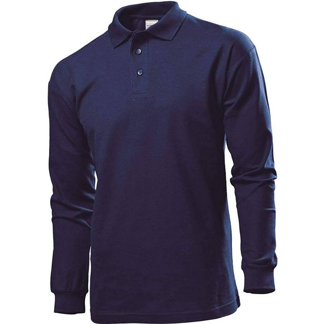 Stedman Polo Long Sleeves T-shirt - Navy Blue