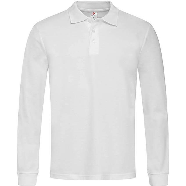 Stedman Polo Long Sleeves T-shirt - White