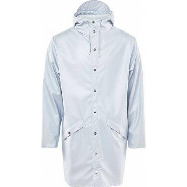 Rains Long Jacket - Metallic Ice grey