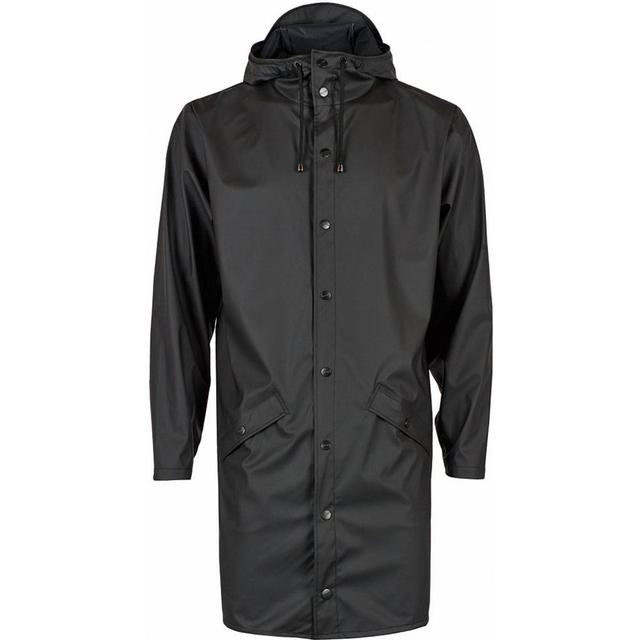 Rains Long Jacket Unisex - Black