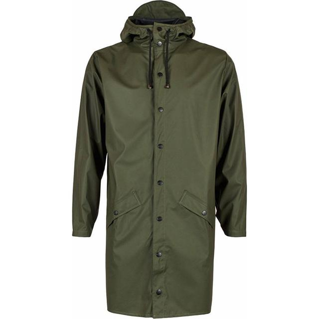 Rains Long Jacket Unisex - Green